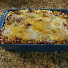Sloppy Joe Mac N Cheese: Two classic comfort foods combined to make one hearty and very satisfying casserole.