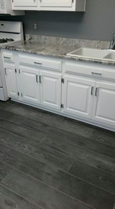 White Kitchen Grey Floor 15 cool kitchen designs with gray floors | designer friends, tile