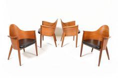 4 x mahogany Klaus Wettergren dining chairs US $2,500.00