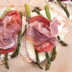 Asparagus-Cheese Tartines // More European Snacks: http://www.foodandwine.com/slideshows/european-snacks/1 #foodandwine
