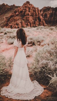 Bohemian hippy lace Stevie wedding dress by Chantel Lauren