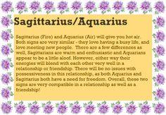 Sagittarius Aquarius Love Compatibility Horoscope