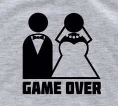 GAME OVER Groom gift from bride groom shirt groomsmen gift bride and groom sign groom tshirt wedding tuxedo shirts groom to be by lptshirt on Etsy https://www.etsy.com/listing/183230079/game-over-groom-gift-from-bride-groom