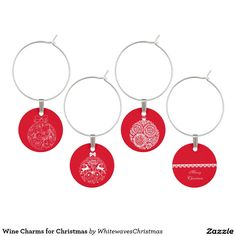 #Wine Charms for #Christmas @whitewaves1