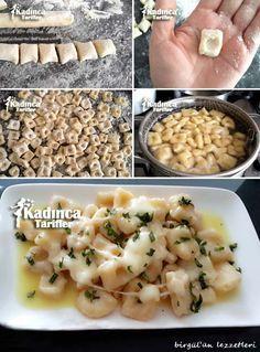Gnocchi Recipe (Potato Dumpling Ravioli), How to Make - Bulette Easy Cake Recipes, Vegan Recipes Easy, Turkish Recipes, Ethnic Recipes, Gnocchi Recipes, Ravioli Recipe, Vegetarian Breakfast Recipes, Iftar, Chicken Seasoning
