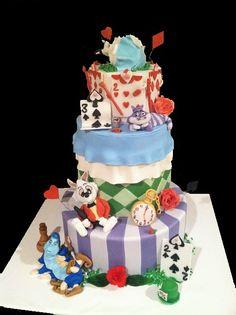 Alice In Wonderland sweet 16 cake