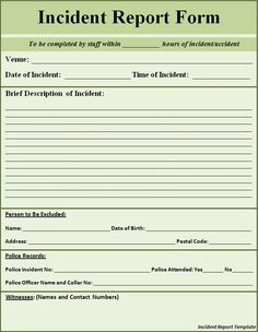 12 Imposing Police Incident Report Template for 2020 Microsoft Word, Letter Format Sample, Incident Report Form, Legal Forms, Police Report, Report Writing, Reference Letter, Report Template, Sample Resume