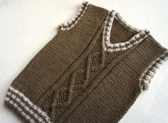 Children hand knitted wool vest, Knitted Baby/ Toddler Vest, Boy brown vest, Tank top for boy – Hand Knitting Baby Boy Vest, Toddler Vest, Baby Boys, Baby Knitting Patterns, Hand Knitting, Wool Vest, Knit Vest, Brown Vest, Hand Knit Scarf