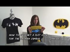 How to Crochet a Flat Oval for the Batman Symbol - Part 1/4 - YouTube