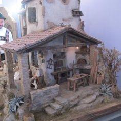 Presepi e diorami in mostre per l'Italia - Videocorsi per diorami e presepi Christmas Nativity Scene, Home Design Plans, Small World, Gazebo, Outdoor Structures, House Design, Painting, Inspiration, Portal