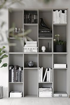 7 Marvelous Cool Ideas: Minimalist Home Inspiration Mirror white minimalist bedroom grey.Minimalist Home Inspiration Mirror minimalist bedroom apartment pillows.Minimalist Home Garden Interiors. House Design, Decor, Stylish Space, House Interior, Ikea, Home, Interior, Home Diy, Ikea Bookcase