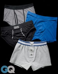 """The GQ Guide to the Best Underwear Out There """"Canadians designed these to help men survive a freezing-ass fishing trip and have poured about as much tech into their briefs as Apple has into the iPad. Best Underwear, Briefs Underwear, Mens Innerwear, Men's Undies, Men's Boxer Briefs, Gym Wear, Lounge Wear, Gym Shorts Womens, Mens Fashion"""