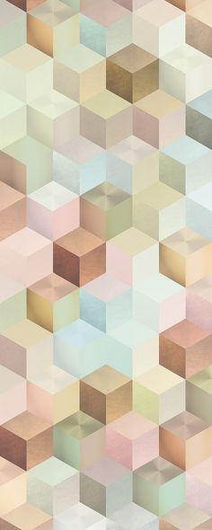 "Vlies-Panel ""Cubes Panel"" (6016A-VD1) von Komar"