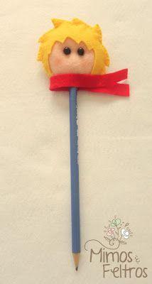 Para completar o kit de aniversário do pequeno príncipe Arthur. Só faltava ele, o próprio Pequeno príncipe nas ponteiras de lápis :) ...