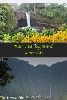 Must visit Big Island Waterfalls - check out these spectacular waterfalls you can visit around the island with wonderful scenery, beautiful landscapes and botanical gardens or easy hikes to view or some swimmable places to get to below. Check out all these wonderful spots below. Hawaii Travel Guide, Travel Tips, Hiking Spots, Hawaii Life, Hawaii Vacation, Big Island, Travel Around The World, Cool Places To Visit, Waterfalls