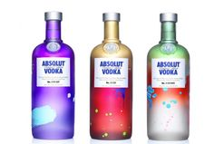 absolut unique bottles - bespoke packaging painted by robots, whats not to love?