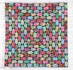 "Garden Bejeweled Quilt Kit by SuzGuz Designs with Amy Butler's FreeSpirit Eternal Sunshine Fabric | 80x80"" - 6""blocks | Craftsy"
