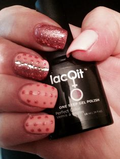 Lacqit gel nail polish Tangerine Tango and A Flare for Pink . Gel nail kits , gel polish at home