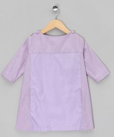 Take a look at this Purple Inset Smock Dress - Toddler & Girls by gravel+grass on #zulily today!