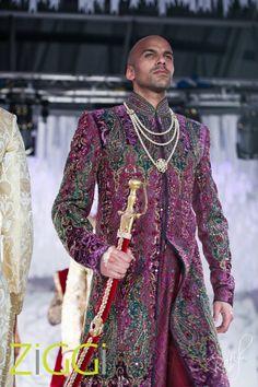 Color is good but suits only a few . Sherwani #wedding purple sherwani. Ziggi Studio April 2012