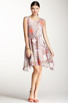 Paisley Printed Dress by jaye.e.