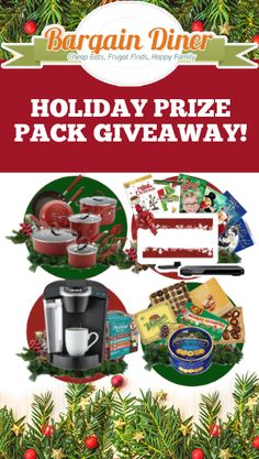 Enter to win a holiday movie bundle, a Rachael Ray cookware set, a Keurig and Holiday K-Cups, or a Holiday Sweets Bundle!