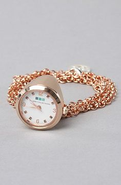 La Mer The Ring Watch in rosegold Ring Watch, Bracelet Watch, Rocker Chic, Latest Trends, Finger, Rose Gold, Watches, Stone, My Style