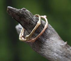 Prstene - Větvičkový prsten zlatý snubní či jen tak... - 6548337_