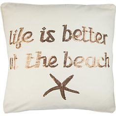 Elise & James Home Life Is Better Square Pillow
