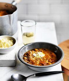 Pumpkin and chickpea soup recipe :: Gourmet Traveller