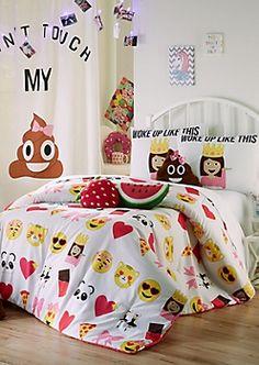 Full/Queen Emoji 3-Piece Comforter Set