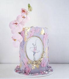 Too pretty to eat 💗💗💗 Ballerina image 💗 Dance Cakes, Ballet Cakes, Ballerina Cakes, Beautiful Birthday Cakes, Beautiful Cakes, Unique Cakes, Creative Cakes, Buttercream Cake, Fondant Cakes