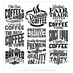 Vintage Coffee Labels Free Vector
