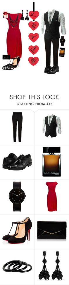 """""""A great date"""" by sarah-michelle-steed ❤ liked on Polyvore featuring Sandro, Stacy Adams, Dolce&Gabbana, Uniform Wares, Wallis, Christian Louboutin, Furla, Oscar de la Renta and Bling Jewelry"""
