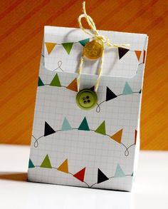 Gift-Card Holder...love the button/twine  idea to close