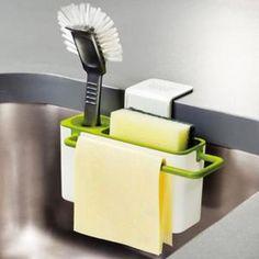Vente chaude Brosse éponge évier Drainant Porte-serviettes d'aspiration Base de lavage Coupe lumière Porte de cuisine verte
