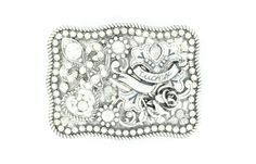 Nocona Western Lucky Rose and Cross Womens Belt Buckle 37666 #Nocona