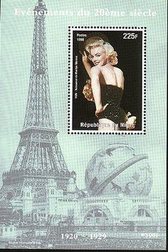 Republique du Niger Stamp - Marilyn Monroe