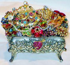 Vintage Jewelry TRINKET Box Vintage by 2charmedanddangerous, $295.00