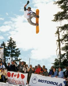 In the 1990's #MikeMichaelchuck was going bigger and charging harder than just about any other pro in the world. Going massive off hips inventing double flip variations in the pipe and doing airs like this were just a few of his contributions to snowboarding. If you get a chance watch some old films with his riding your mind will be blown. This was shot by @danopendygrasse in 1999. #twsnow #throwbackthursday