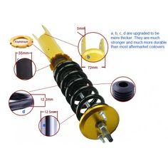 Nissan Fairlady Z 300ZX Z32 Adjustable 24 Way Coilover Shock Absorber Strut Suspension Kit