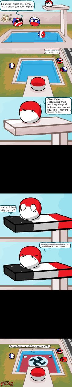 Pool & Polska ( Poland Germany ) by Prothey - So Funny Epic Fails Pictures Epic Fail Pictures, Funny Pictures, Wtf Funny, Funny Cute, Poland Germany, History Memes, Gaming Memes, Funny Comics, Jokes