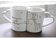 Poni Lab: Couple mugs: Jirafas intergalácticas - Kichink