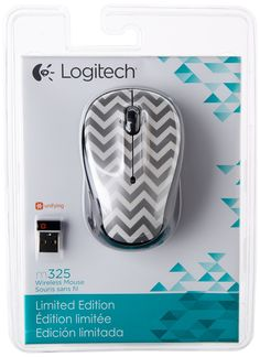 doesnt have to be chevron, I like it cuz it matchs the laptop sleeve I picked out. just wanted something fun, you know me :) Logitech Wireless Mouse Zany M325 910-004161