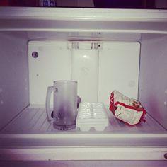 College student fridge.