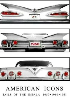 Impala Tails - Appreciated by Motorheads Performance www.classiccarssanantonio.com #chevroletimpala1959