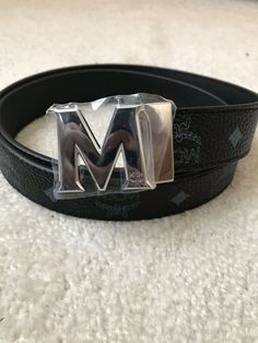 MCM Black Men s Belt 44 110-New without tags  fashion  clothing   a3f59b701bf