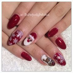 Christmas nails with Gelish and Moyou London Festive plate