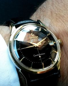 Superb Vintage OMEGA Constellation Piepan Chronometer In Gold-Cap Circa 1960s - http://omegaforums.net - casual watches for men, watch batteries, watch of man *ad