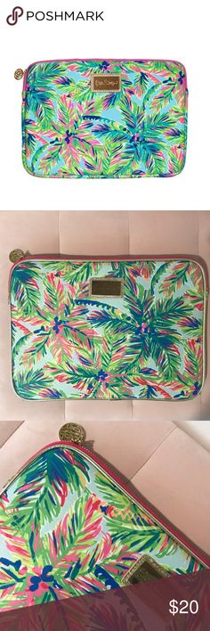 """Lilly Pulitzer Tech Sleeve Laptop Case Tropical NW Lilly Pulitzer Tech Sleeve Laptop Case Tropical Print New. Neoprene tech sleeve with gold zipper. Fits up to 13"""" Laptop. Measures 13 3/4"""" W x 10"""" H. Offers Welcome!  Lilly Pulitzer Accessories Laptop Cases"""